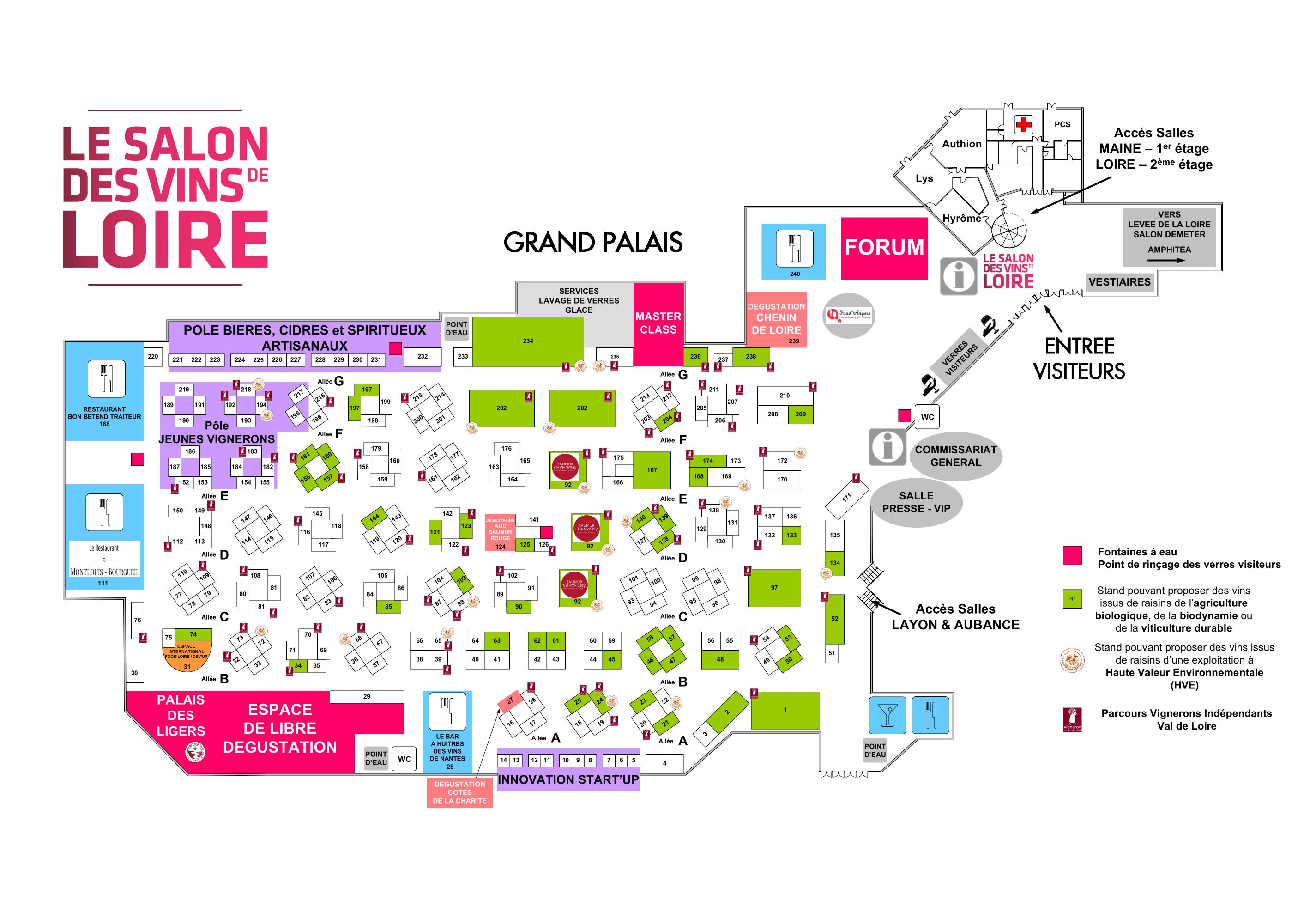 Plan du salon 2019  - MAJ 29.01.19